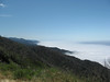 California's Big Sur coastline.  The morning fog was rolling out, but we were high above the fog.