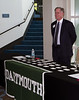 James von Rittmann '95, President of the Dartmouth Alumni Association of Silicon Valley, ready to greet early arrivals.
