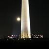 Washington monument and moon.