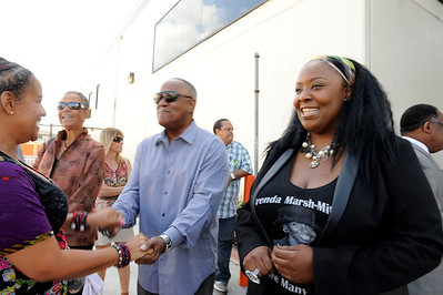 DEDICATION OF THE BRENDA MARSH MITCHELL SQUARE AT THE CORNERS OF COLISEUM & CRENSHAW WAS HOSTED BY THE LOS ANGELES SENTINEL OCTOBER 16, 2014.   (Photos by Valerie Goodloe)