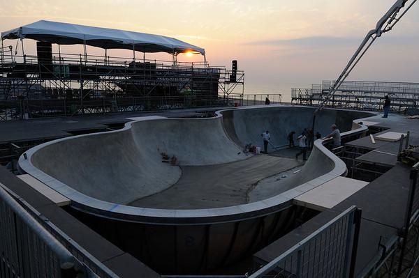 """DEW Tour""  skateboard setup Ocean City Md"