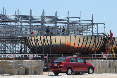 From the boardwalk the first bowl looks like a nuclear reactor containment vessel..........7/15/11