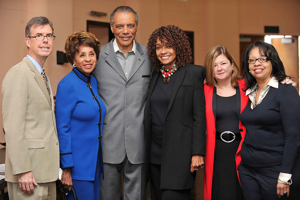 """DIVAS"" Join Bernard Parks, and city officials to kick off restoration of historic vision theatre in Leimert Park Village on March 3, 2011. Gary Lee Moore, Marla Gibbs, Bernard Parks, Olga Goray, and Dr. Lula Balton Valerie Goodloe"