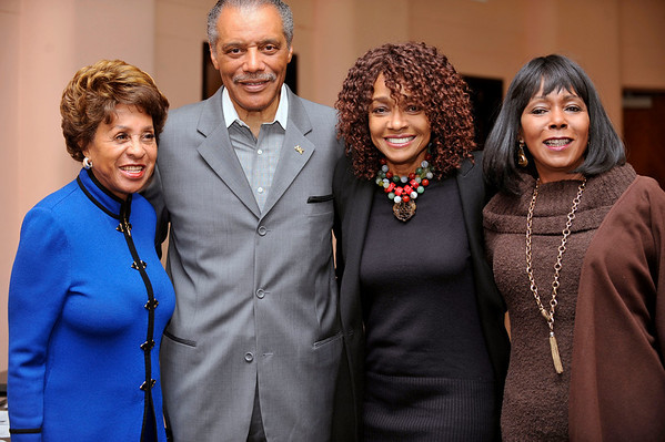 """""""DIVAS"""" Join Bernard Parks, and city officials to kick off restoration of historic vision theatre in Leimert Park Village on March 3, 2011. Marla Gibbs, Councilman Bernard Parks, and Beverly Todd, Judy Pace Valerie Goodloe"""