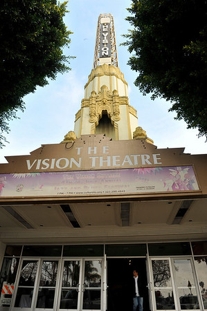 """DIVAS"" Join Bernard Parks, and city officials to kick off restoration of historic vision theatre in Leimert Park Village on March 3, 2011. Valerie Goodloe"