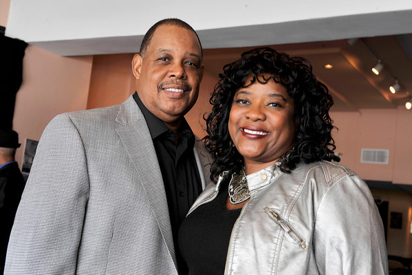"""DIVAS"" Join Bernard Parks, and city officials to kick off restoration of historic vision theatre in Leimert Park Village on March 3, 2011. Glen Marshall and Loretta Devine Valerie Goodloe"