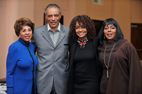 """DIVAS"" Join Bernard Parks, and city officials to kick off restoration of historic vision theatre in Leimert Park Village on March 3, 2011. Marla Gibbs, Councilman Bernard Parks, and Beverly Todd, Judy Pace Valerie Goodloe"
