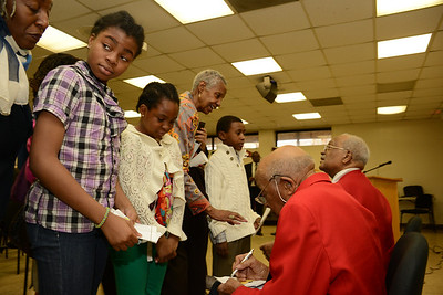 DOTA William Fauntroy and DOTA Edward Talbert visit New Bethel Baptist Church Sunday School