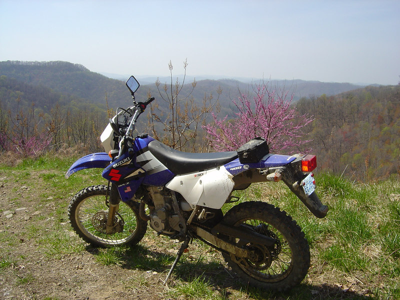 Suzuki DRZ 400 overlooking Whitley County from Knox County, KY