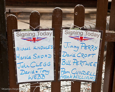 Today's celebrities signing autographs