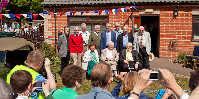 Group shot of celebrities from Croft & Perry shows
