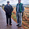 Dave and I on road above Mains farm on way to Gownie Oct 2016