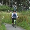 Linda going round Loch Leven