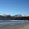 From Luskentyre beach towards North Harris mountains