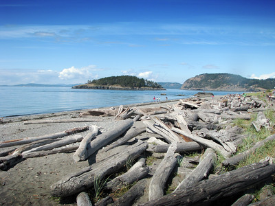 Rugged beach at Deception Pass