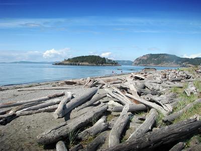 Rugged beach at Deception Pass
