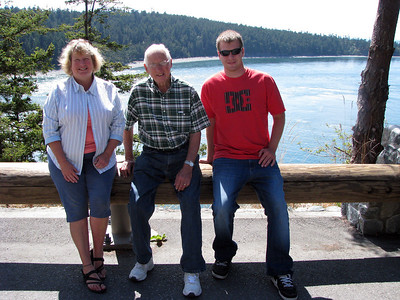 Sharon, Dad, Cory at Deception Pass