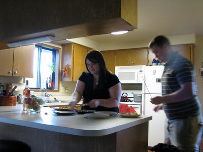 Skarlette and Kyle are quite a team in the kitchen
