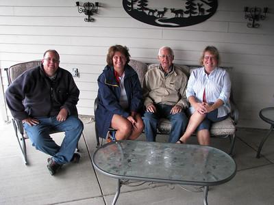 Dave, Karen, Cal, Sharon in the breezeway