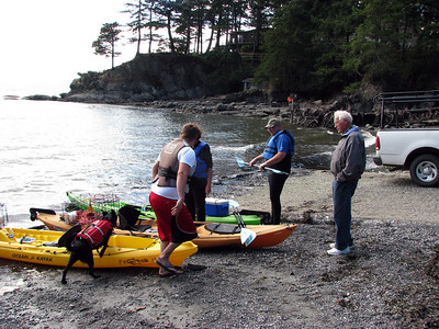 Getting ready to go out at Larrabee State Park on Bellingham Bay in the Puget Sound