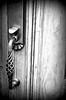 door handle black white