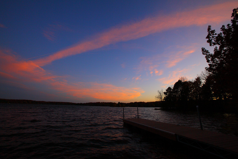 Sunset at the boat dock......Hope your having a great weekend.