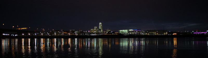02 Nov2011<br /> <br /> Downtown Omaha Nebraska, with not such a good sunset....but it was a great time. This is a crop of a single frame, no stiching or HDR.