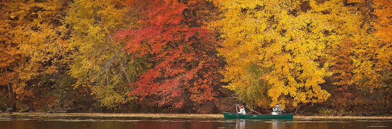02NOV2012 <br /> <br /> Rainbow Lake<br /> <br /> Hunting for the perfect fishing spot these two boys are enjoying the fall foliage that lights up the bank of the lake.<br /> <br /> Mirror Lake Wisconsin.....gotta love fishin!