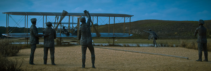 Depiction of Dedication....<br /> <br /> The Wright Brothers at Kill Devil Hills do more to change human life than any other invention...ever.