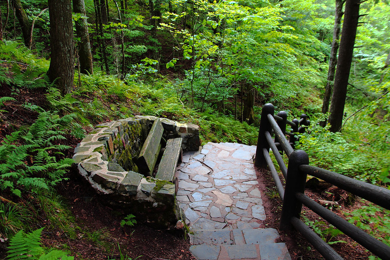 Loveseat on the trail.....Copper Falls State Park, Wisconsin.
