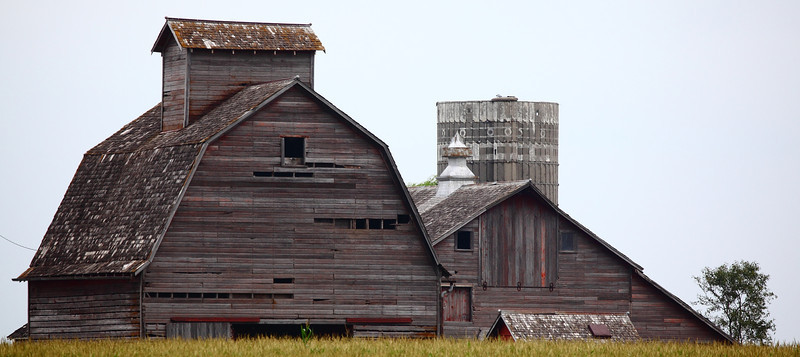 Awaiting the harvest.....Wisconsin barns.