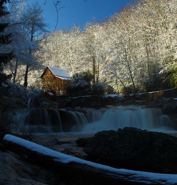 13DEC2011<br /> <br /> The Old Mill....<br /> <br /> <br /> A cold West Virginia. Glade Creek gristmill the most photographed mill in America sits in the Babcock State Park of West Virginia. Glade Creek flows into the New River a National River. This area is chock full of recreation for all. Plan to spend some time in this area the photo op's are all over the place.<br /> <br /> This shot was taken shortly after I fell....I set the tripod up and got the remotes hung, I had to sit down I felt as though i got run over by a linebacker my ankle was killing me I hit square on my back and got the wind knocked out of me..... all that with Linda watching my self induced carnage unfold in front of her on the edge of the bank twenty yards away......I know for sure now there have been times when she thought I was an idiot, but this was one time where she thought I was seriously hurt. Seems as though I have one moment like this on each trip....too close to the edge to close to the wildlife ect... I'm glad she is near me, she keeps me in check. Good thing i don't ride motocross anymore....i would have multiple international symbol refrencing how I'm #1 sign positioned squarely between my eyes.