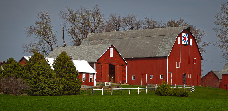 14APR2012<br /> <br /> The Big Red Barn....<br /> <br /> Back to the Iowa trip, this barn is just south of Spirit Lake this area has an abundance of scenic barns to photograph.<br /> <br /> Enjoy your weekend!