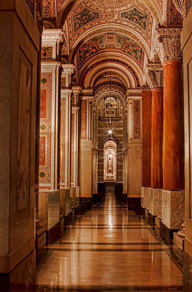 Another shot from my trip to Cathedral Basilica. If you view it in larger size you can see Jesus at the end of the hall.