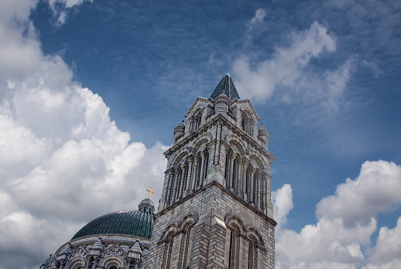 Went into St. Louis yesterday. Was a beautiful day with lots of blue sky and fluffy clouds. This is the top of Cathedral Basilica.  The architecture here is simply amazing. 7.16.13