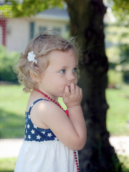 Sweet baby Hazel is now 2 years old. Can't help but wonder what this child is thinking at this moment. 8.5.13