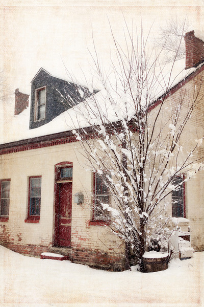 Another shot from March snow storm. This house is in a neighborhood where all the houses are at least 100 years old. <br /> <br /> I finished this off by adding a texture by Kim Klassen. 8.27.13
