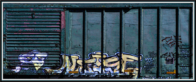 Day #3 in  Dallas. Went looking for birds and got nada, but on the way home I snagged a few good shots of some graffitti on railroad cars. I know it is considered a crime or is a crime I should say, but I really admire the talent it takes to create it. So here you have it, 9.25.13.