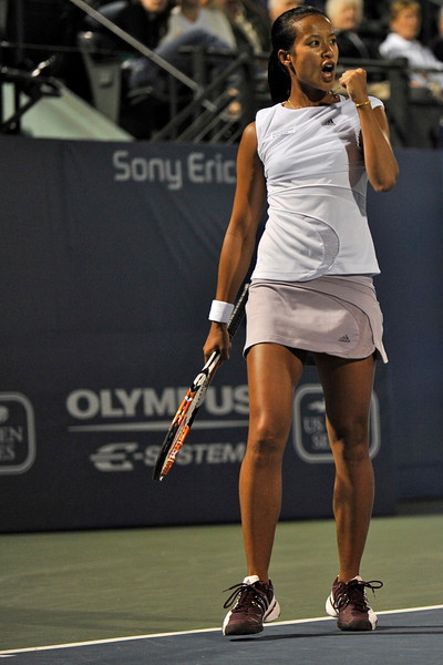 15 July 2008: Anne Keothavong of Great Britain during her 7-6 (7-4), 6-1 victory over Sania Mirza of India in their first round singles match at the Bank of the West Classic in Stanford, CA.