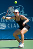 31 July 2009:  Samantha Stosur (AUS) during her 6-2, 3-6, 6-2 victory over Serena Williams (USA) in their singles match at the Bank of the West Classic in Stanford, CA.