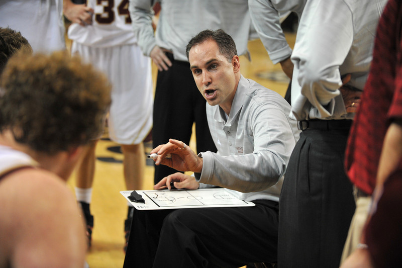 02 February 2008: Coach Kerry Keating during Santa Clara's 87-82 double-overtime loss to Gonzaga  at the Leavey Center in Santa Clara, CA.