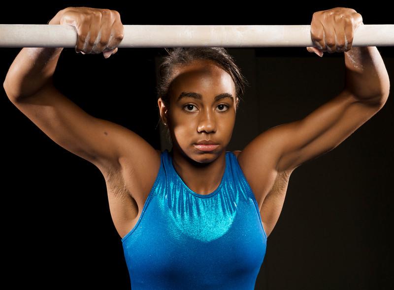 06 September 2008:  Cal State Fullerton gymnast Shelly Cooper in Fullerton, CA.