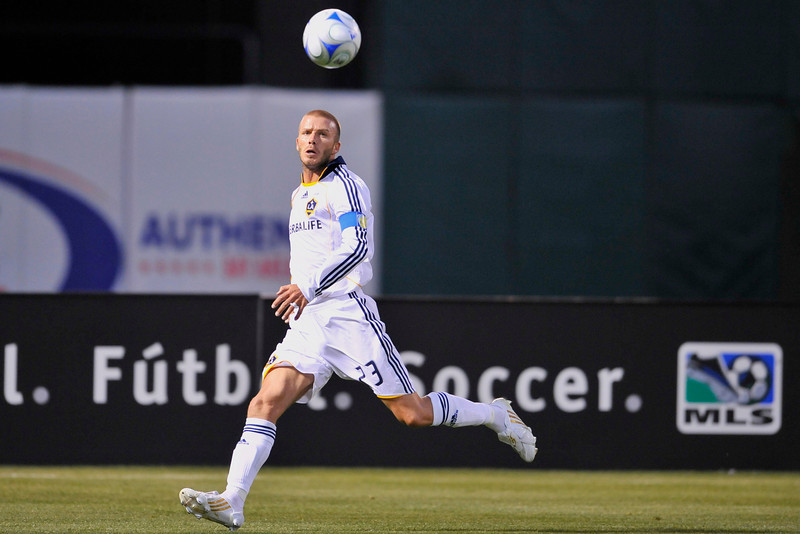 14 June 2008:  David Beckham (23) during the Los Angeles Galaxy's 3-0 victory over the San Jose Earthquakes at McAfee Coliseum in Oakland, CA.