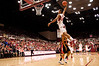 24 January 2009:  Stanford Cardinal forward Josh Owens (24) completes a dunk during the first half of the Cardinal's 77-62 loss to the Oregon State Beavers at Maples Pavilion in Stanford, California.