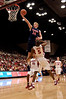 04 January 2009: Arizona Wildcats forward Chase Budinger (34) lays the ball in over Stanford Cardinal guard Jeremy Green (5) during the second half of the Cardinal's 76-60 win over the Wildcats at Maples Pavilion in Stanford, California.
