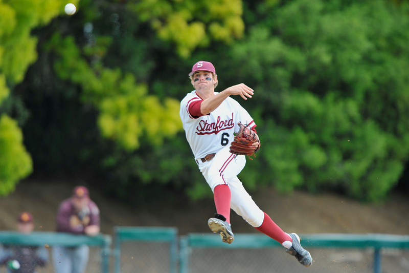 6 April 2008:  Stanford Cardinal Jake Schlander during Stanford's 12-2 win against the Arizona State Sun Devils at Sunken Diamond in Stanford, CA.