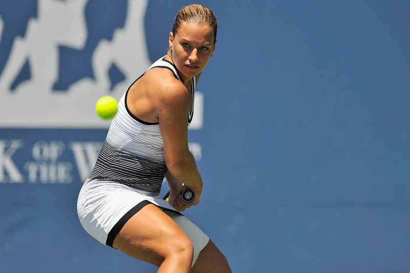 18 July 2008: Dominika Cibulkova of Slovakia during her 7-6 (7-4), 7-5 victory over Ai Sugiyama of Japan in their semi-final singles match at the Bank of the West Classic in Stanford, CA.