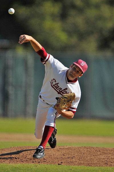 31 March 2008: Stanford Cardinal Max Fearnow during Stanford's 9-3 win against the Long Beach State 49ers at Klein Field at Sunken Diamond in Stanford, CA.