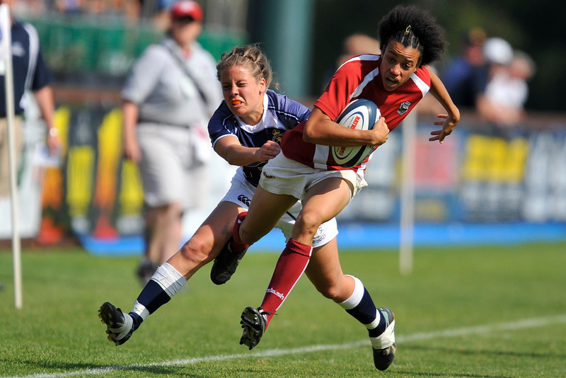 03 May 2008:  Jessica Watkins during Stanford's 15-10 victory over Penn State to win the Division I Women's Rugby National Championship match at Stueber Rugby Stadium in Stanford, CA.
