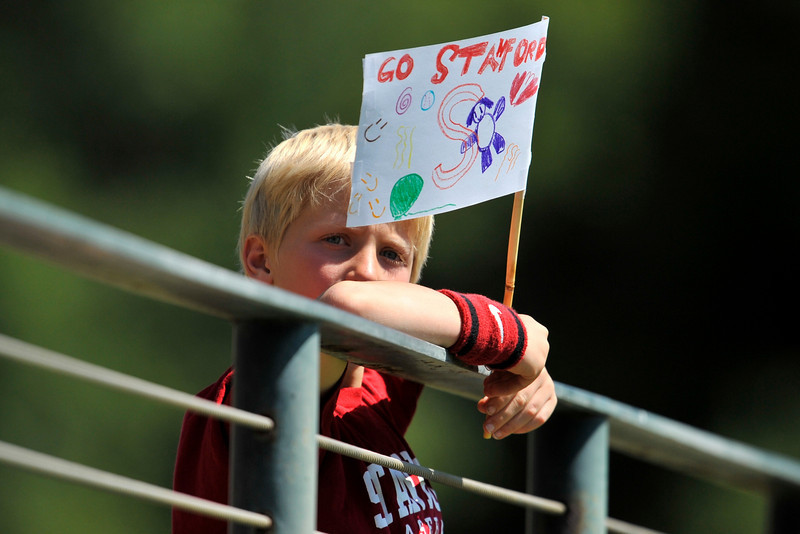 01 June 2008:  Stanford Cardinal fan during Stanford's 8-4 win over UC Davis at Klein Field at Sunken Diamond in Stanford, CA.